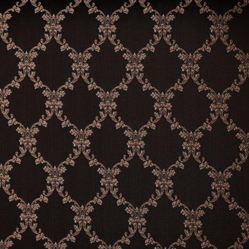 """Банкетка мягкая """"Римская"""" 350х490 ясень коричневый/черная патина/жаккард вензель коричневый"""