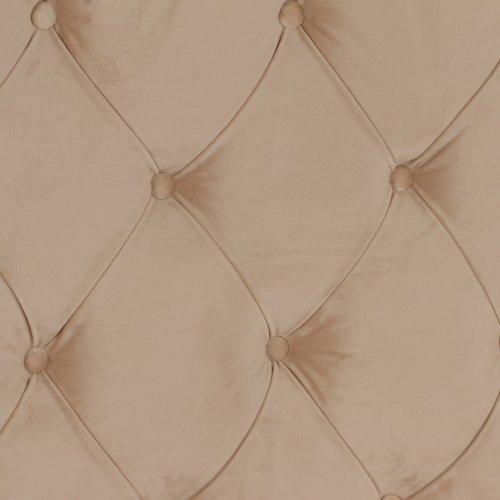 Кровать София с мягкой спинкой каретная стяжка и низким изножьем 180х200, белый лак, арт. 20180КС