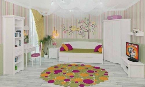 Набор для подростковой комнаты (белый воск)