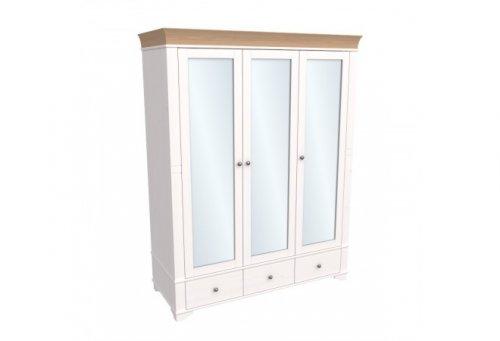 """Шкаф 3-дверный с зеркалом """"Бейли"""" 87421/88421/82421"""