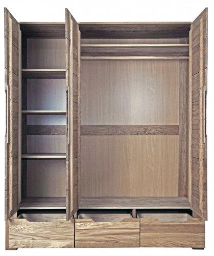 Шкаф 3-хстворчатый Riva (1714х560х2025) (тик)
