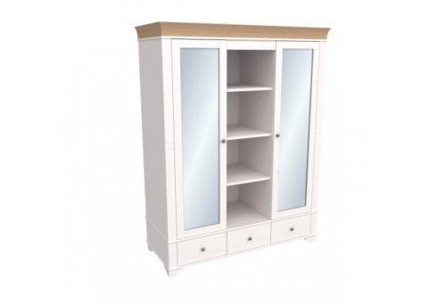 """Шкаф 2-дверный с зеркалом """"Бейли"""" 87418/88418/82418"""
