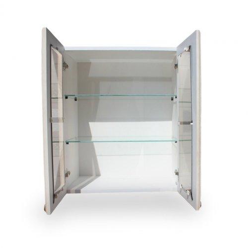 Шкаф настенный (800 мм) с 2-мя дверями «Викинг GL» с полкой (двери стекло) №32