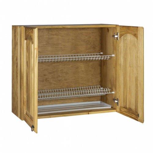 Шкаф настенный (800 мм) с 2-мя дверями «Викинг GL» с сушкой №33
