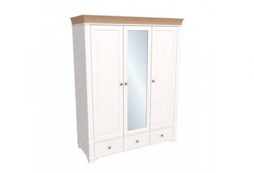 """Шкаф трехдверный с зеркалом """"Бейли"""" 87401/88401/82401"""