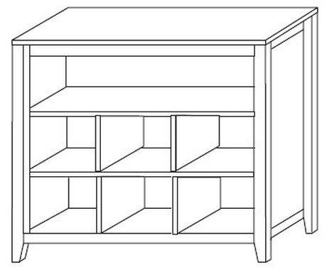 """Стеллаж """"Сиело"""" (шкаф для книг) 77450"""